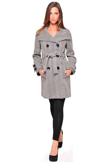 Chevron Maternity Coat ($229)