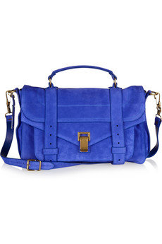 Proenza Schouler | PS1 Medium suede satchel | NET-A-PORTER.COM