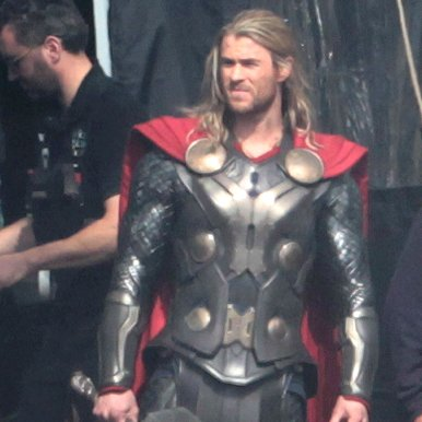 Chris Hemsworth on the Set of Thor 2