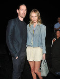 Kate Bosworth and Michael Polish stuck together at the show.