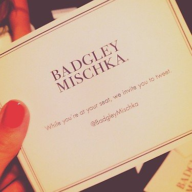 Lauren Conrad took the hint and tweeted about the Badgley Mischka show. Source: Instagram user laurenconrad