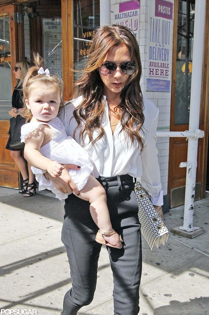 Victoria Beckham carried Harper Beckham around NYC.