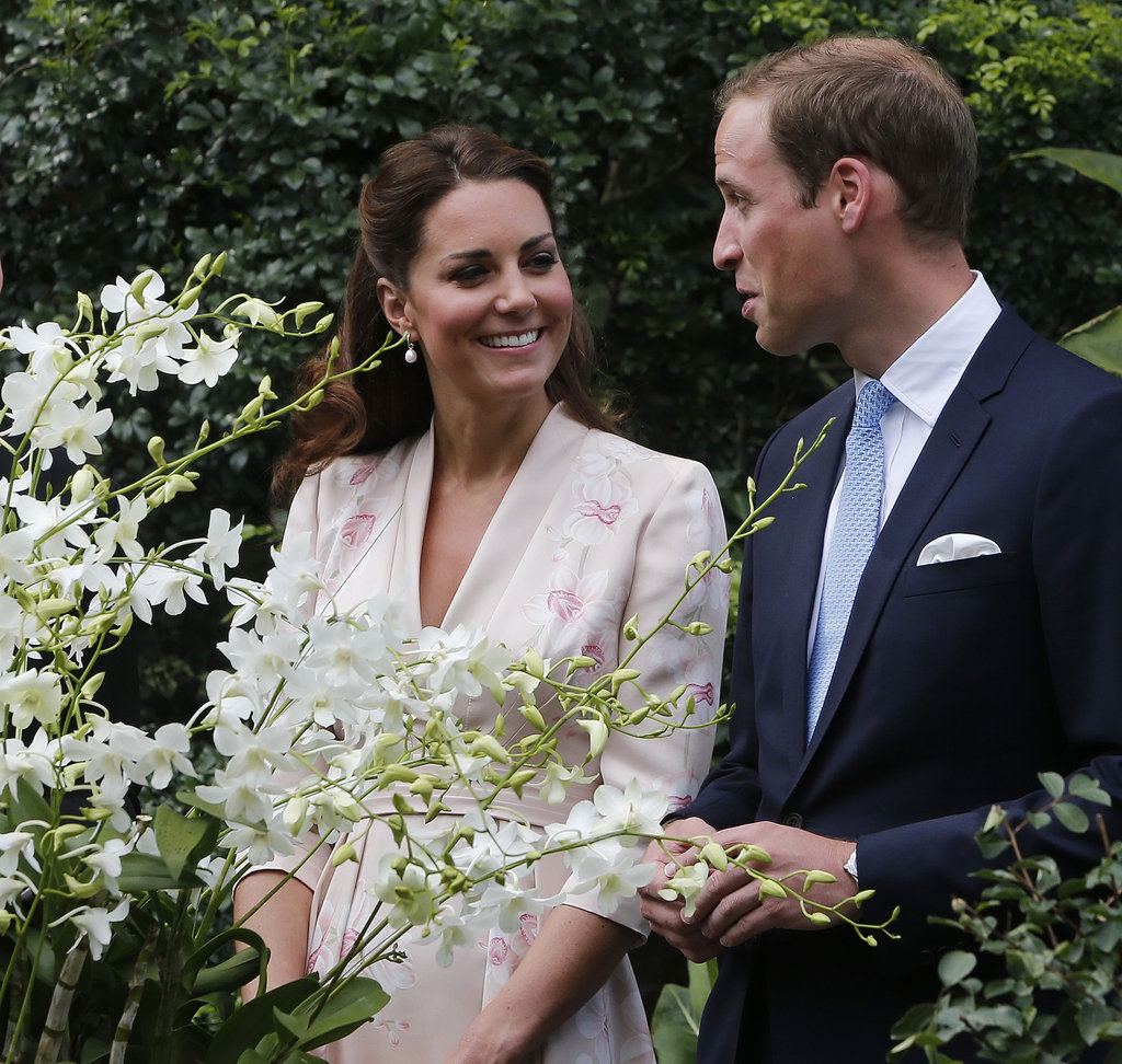 The Duke and Duchess of Cambridge enjoyed each other's company on day one.