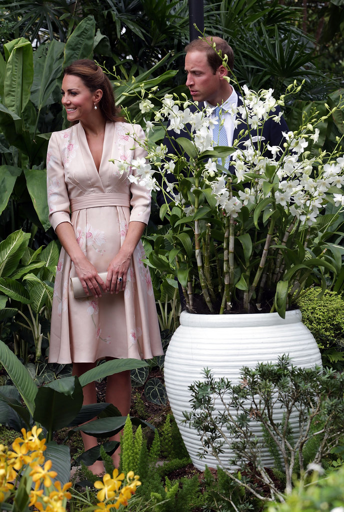 Kate Middleton and Prince William attended an Orchid naming ceremony at the botanical gardens in Singapore.