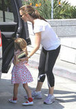 Jennifer Garner helped Seraphina Affleck into the car.