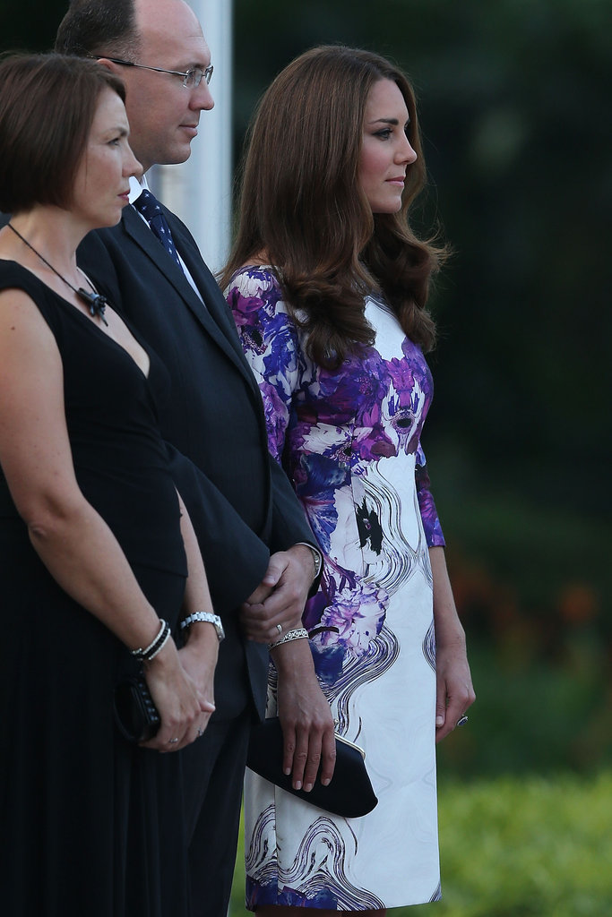 Kate Middleton attended a welcome ceremony in Singapore.