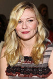 Kirsten Dunst took her seat in the front row.