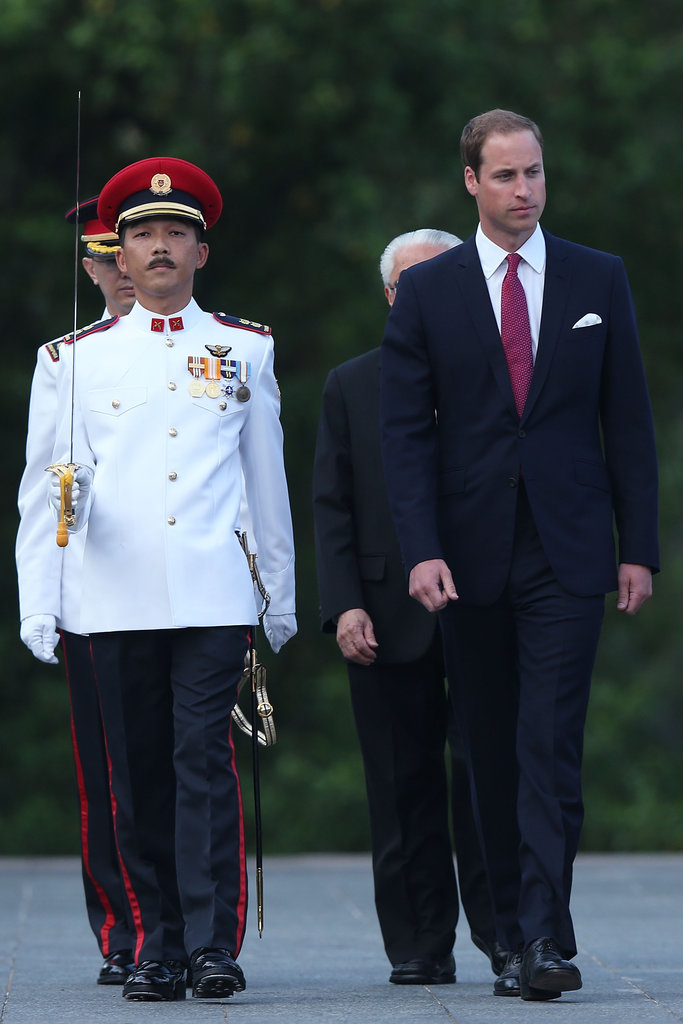 Prince William arrived in Singapore.