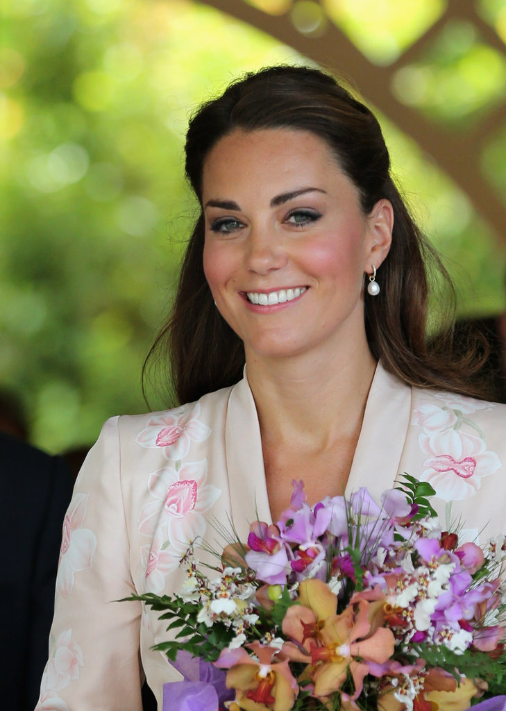 The orchid pattern symbolises the plants Kate viewed at the Botanical Gardens.