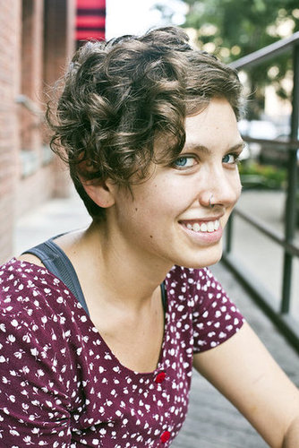 Update your pixie cut with the help of your thin-barreled curling iron. Photo by Caroline Voagen Nelson
