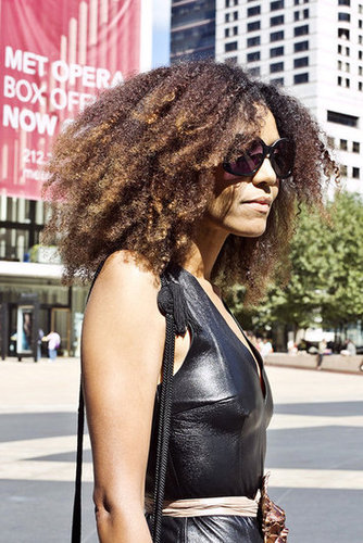 Tight, kinky curls keep any look interesting. Photo by Caroline Voagen Nelson