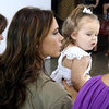 Harper Beckham in the Front Row at Fashion Week