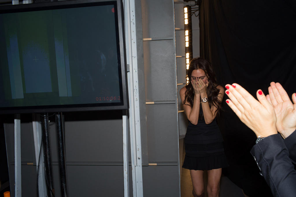 Victoria Beckham was relieved after her Spring show. Source: Twitter user victoriabeckham