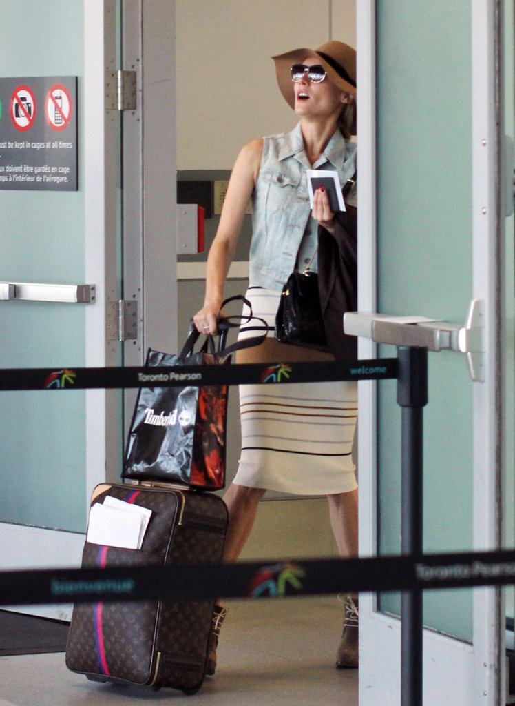 Diane Kruger headed out of Toronto.