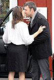 Ben Affleck and Jennifer Garner shared a sweet moment at Brentwood Country Mart.