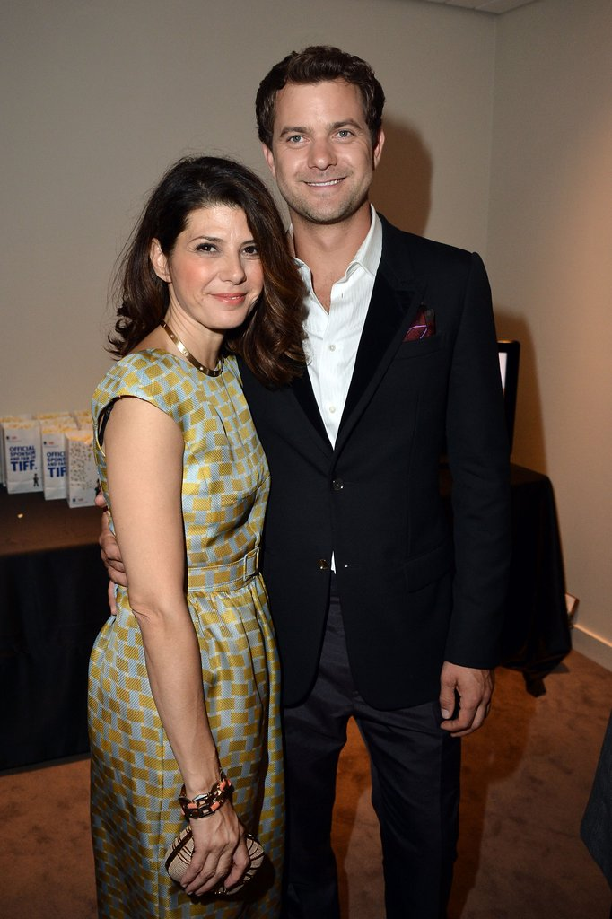 Joshua Jackson posed with Marisa Tomei at the Inescapable premiere at the Toronto International Film Festival.