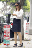 Jennifer Garner paid a parking meter in Santa Monica.
