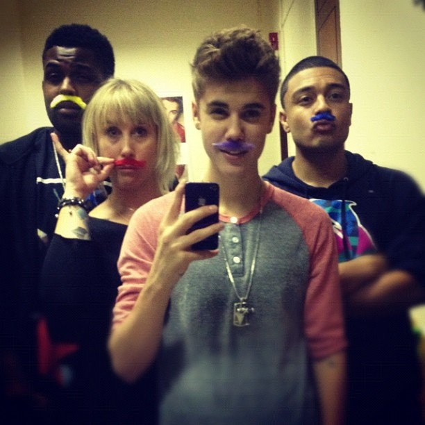 Justin Bieber got into costume with some friends.  Source: Instagram user justinbieber