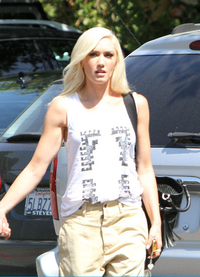 Gwen Stefani rocked a white tank in Burbank, CA.