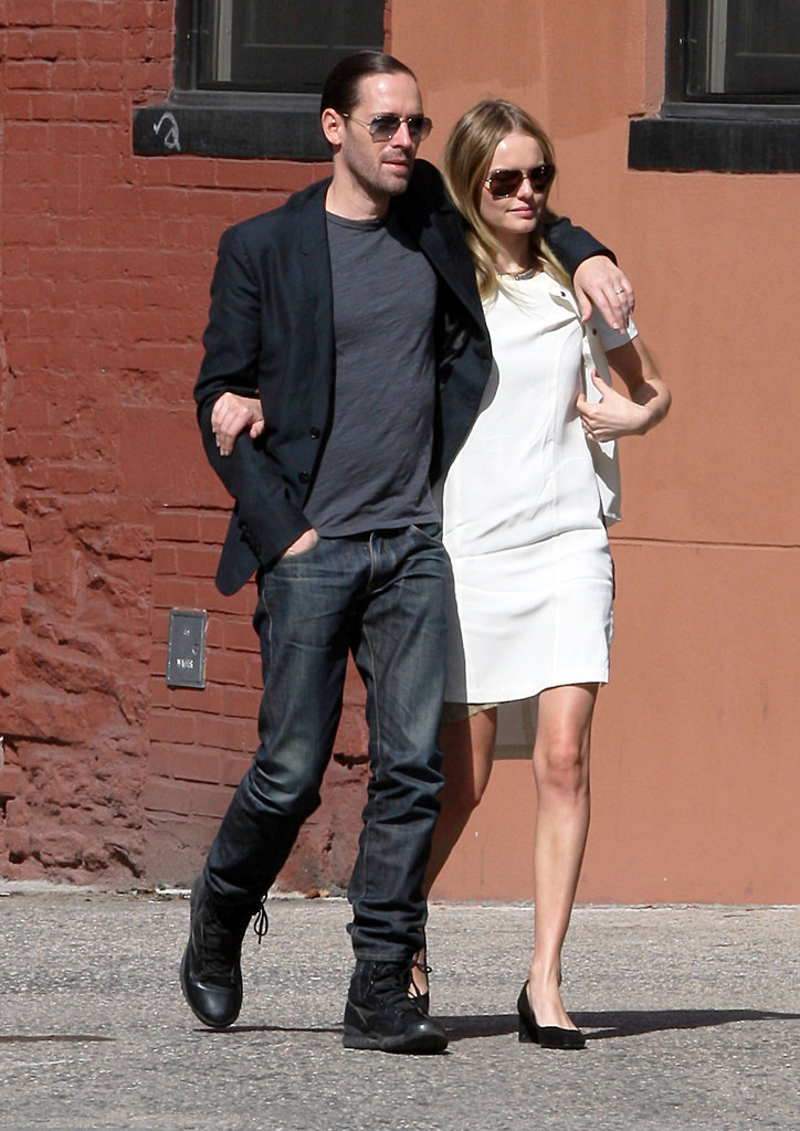 Kate Bosworth and Michael Polish were arm in arm for a visit to Ground Zero.