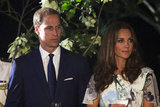 Kate Middleton and Prince William were side by side at a reception in Singapore.