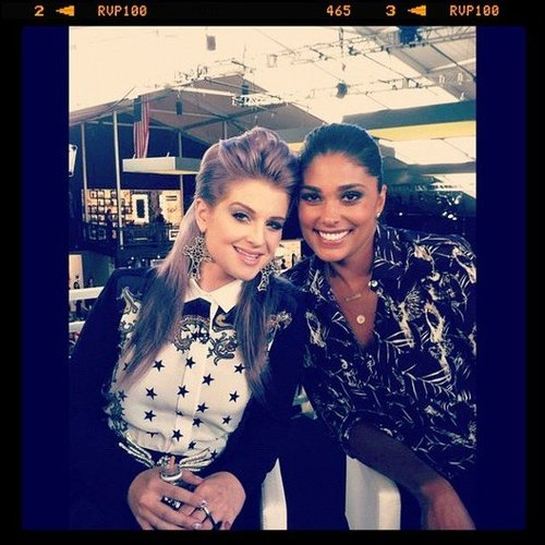 Rachel Roy filmed an episode of Fashion Police with Kelly Osbourne. Source: Instagram user rachel_roy