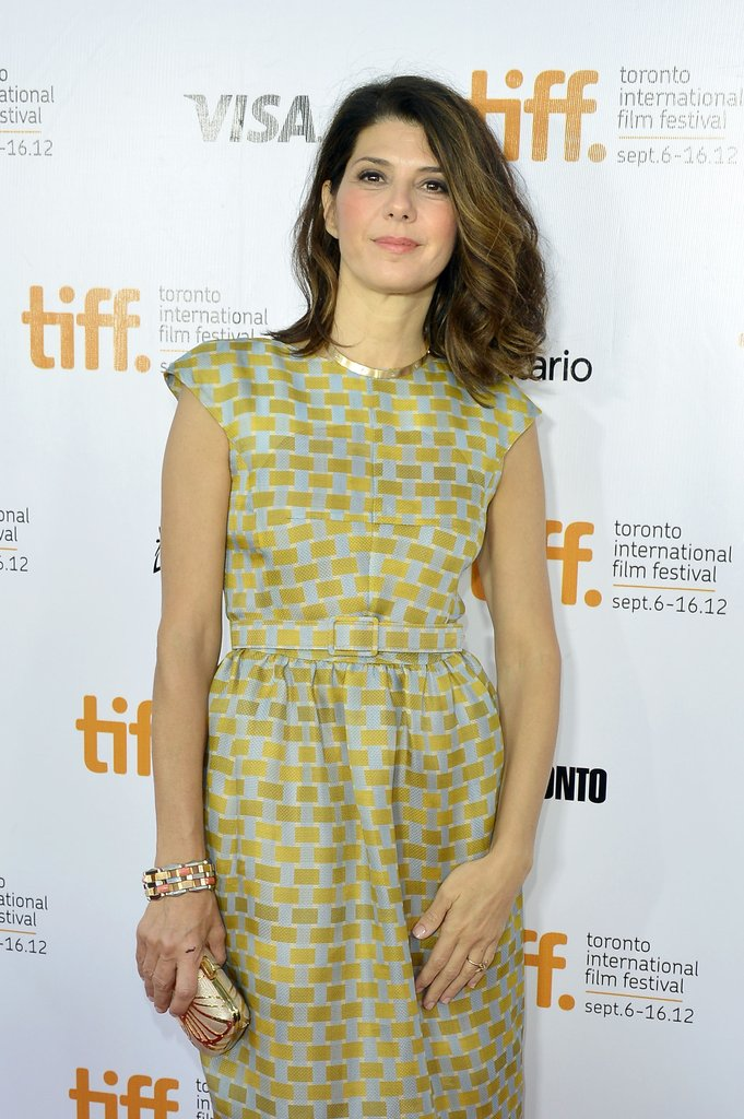 Marisa Tomei wore a light green dress for the Inescapable premiere at the Toronto International Film Festival.
