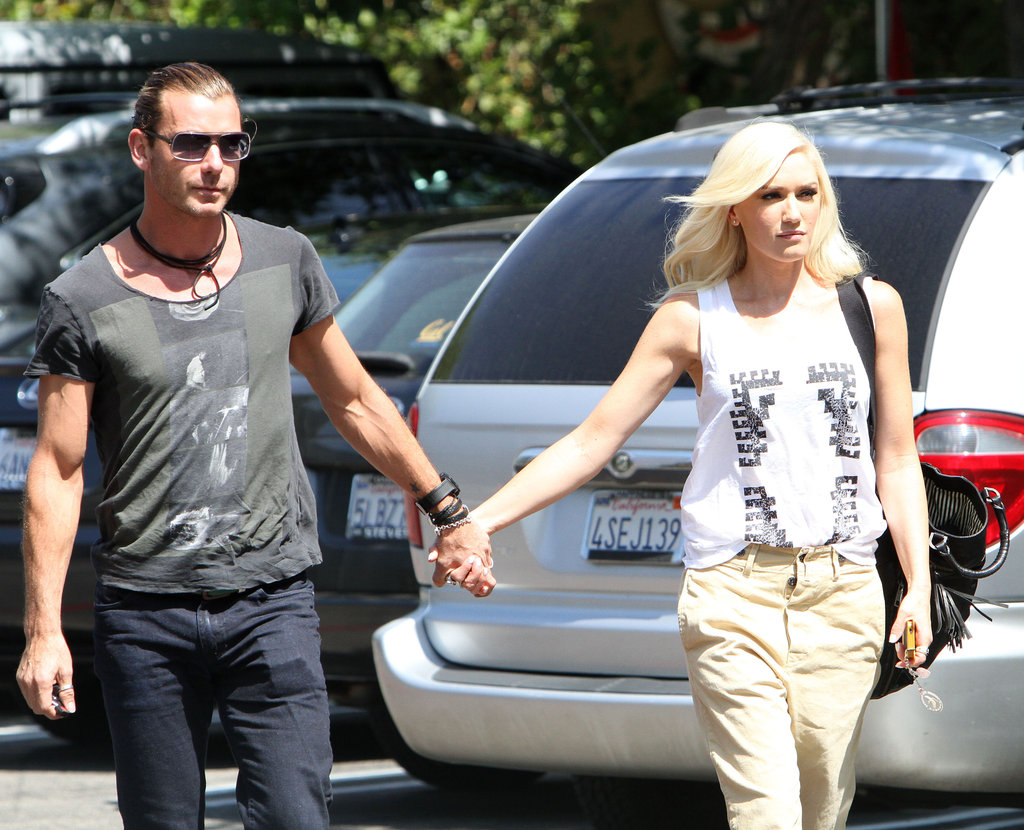 Gwen Stefani and Gavin Rossdale walked through a Burbank, CA, parking lot together.