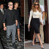 Jennifer Lopez Dines With Casper and Sits Down With Katie