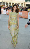 Marisa Tomei kept it modest, albeit sophisticated, in a printed green floor-length gown at the Inescapable premiere.