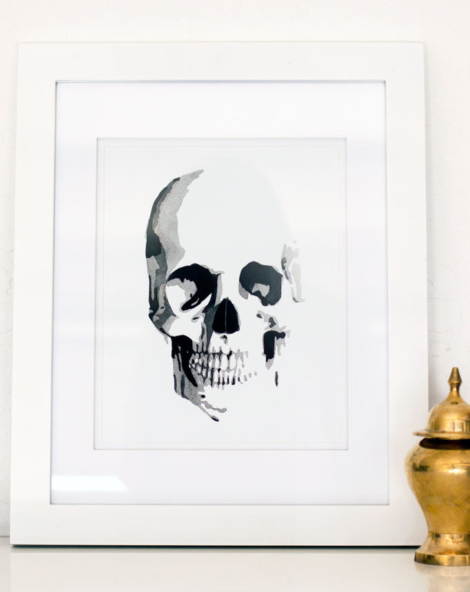 Skull Watercolor Giclée Print ($25)