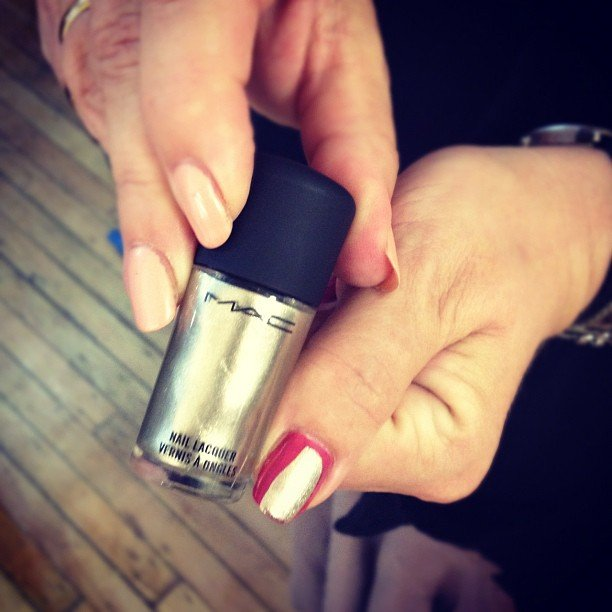 When you're low on time, this Screaming Brights polish by MAC only requires one coat (and that's a promise).