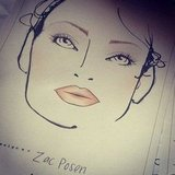 The face chart at Zac Posen showed that his runway look was all about the lashes.
