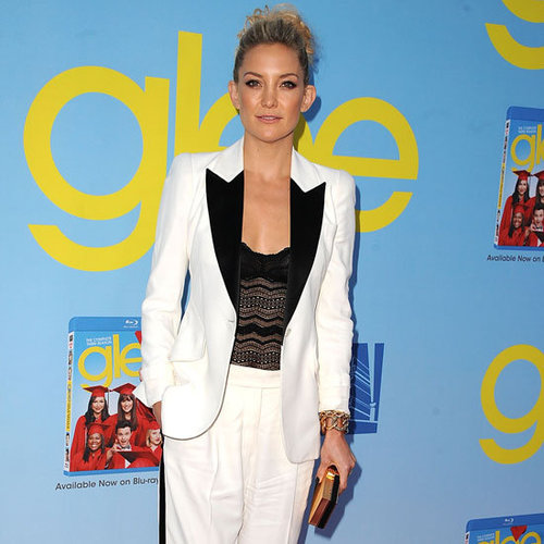 Kate Hudson Wearing White Tuxedo Suit