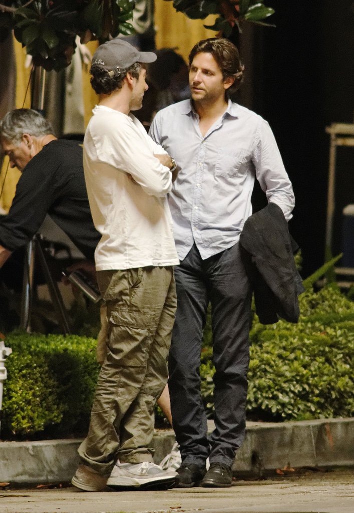 Bradley Cooper chatted on the set of The Hangover Part III.
