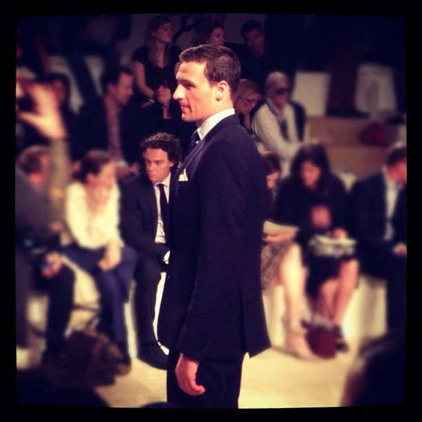 Ryan Lochte looked sharp in a suit at the Ralph Lauren show. Source: Instagram user allure_magazine