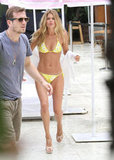 Doutzen Kroes paired her bikini with heels.