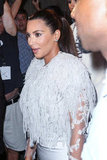 Kim Kardashian wore a textured top to the show.