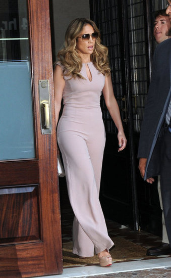 Jennifer Lopez stepped out of her hotel in NYC.