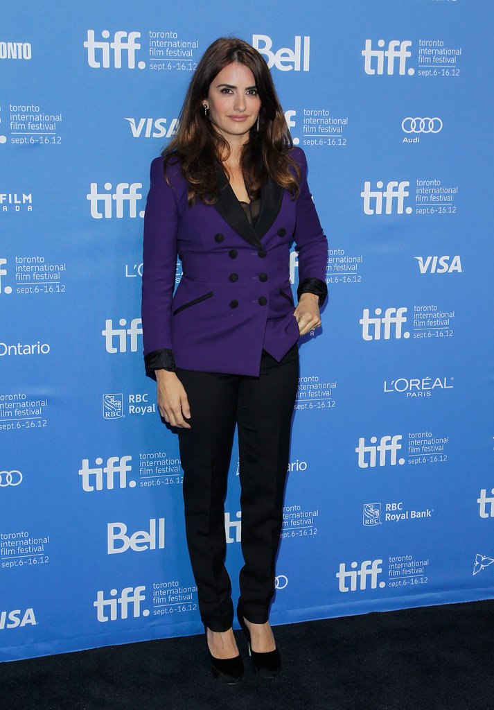 Penelope Cruz posed at the Toronto Film Festival.