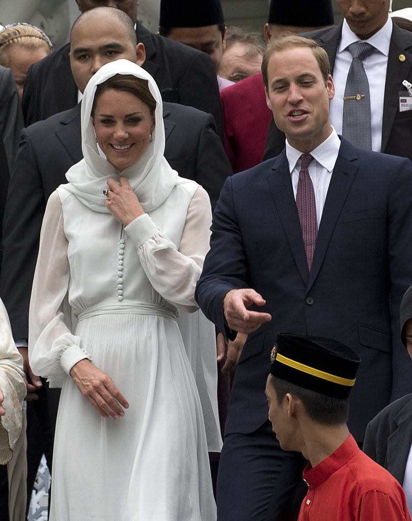 Will and Kate laughed together at the Malaysian mosque on day four of their tour of the Far East.