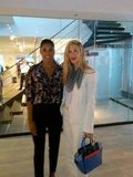 Rachel Roy hung out with Joanna Hillman. Source: Twitter user Rachel_Roy
