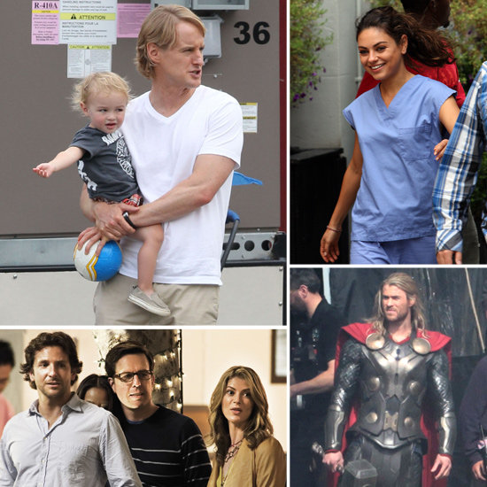 Bradley Cooper, Mila Kunis, Chris Hemsworth, and More Stars on the Set