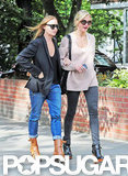 Cameron Diaz and Stella McCartney walked around London.