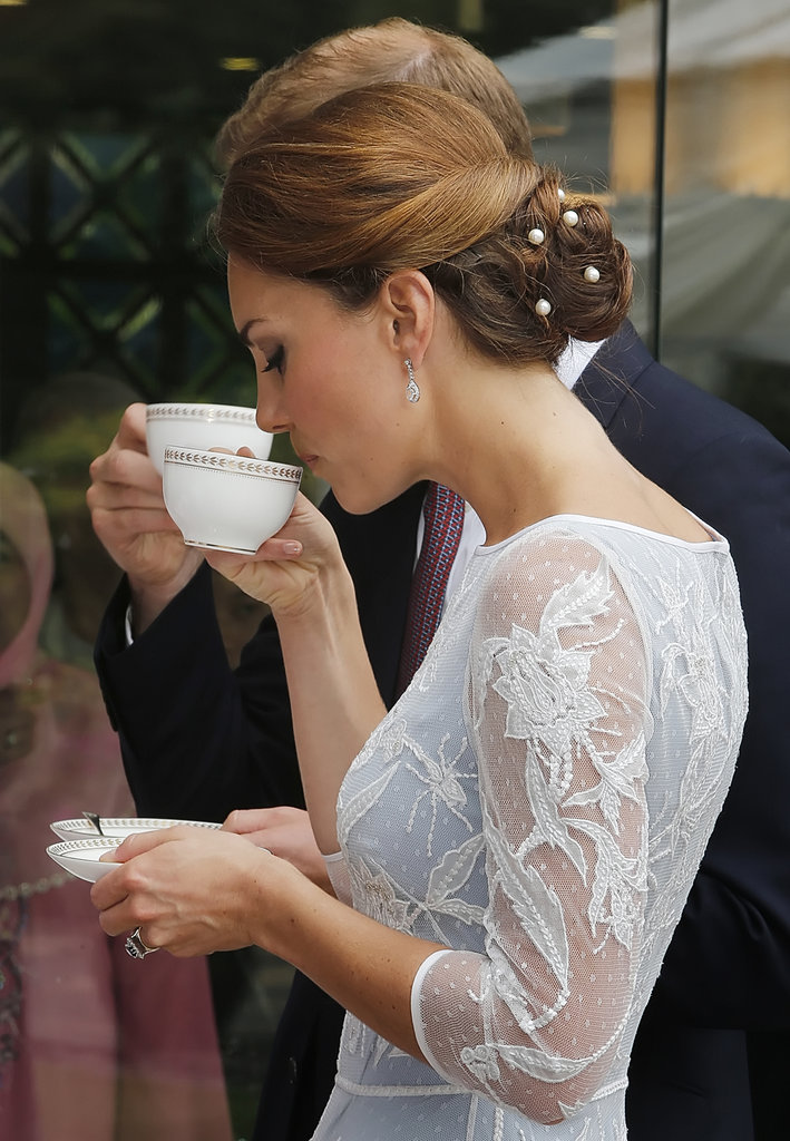 Will and Kate sipped tea together in Malaysia on day four of their tour of the Asia Pacific.