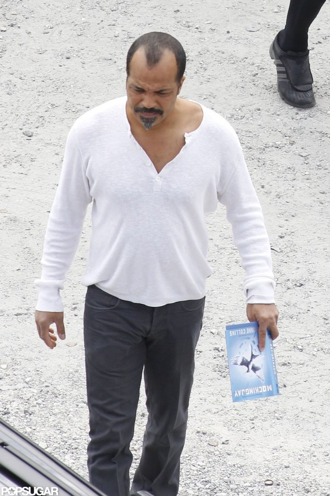 Jeffrey Wright held a copy of the book.