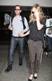 Kate Bosworth and Michael Polish were spotted leaving LAX Airport.
