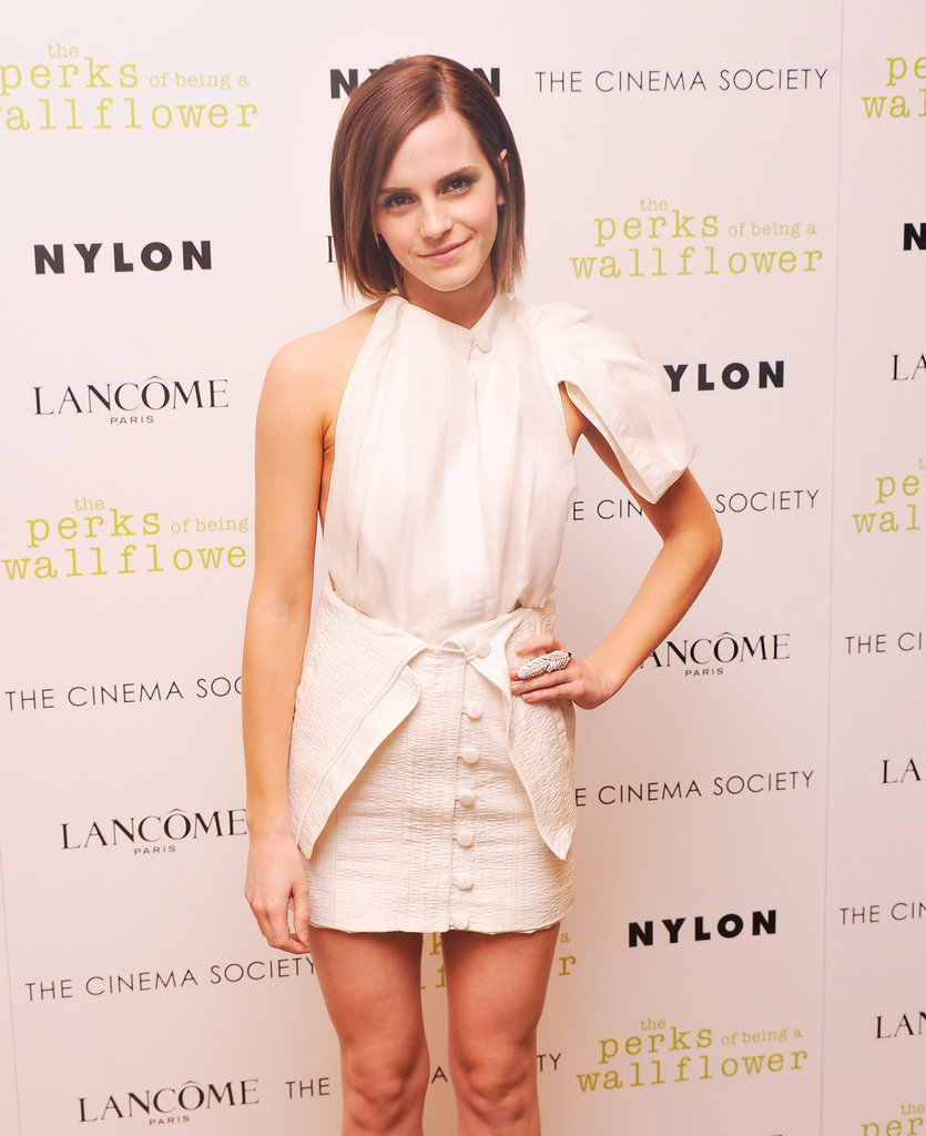 Emma Watson promoted The Perks of Being a Wallflower.