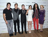 Adam Hagenbuch, Johnny Simmons, Logan Lerman, Emma Watson, Ezra Miller, and Erin Wilhelmi attended a premiere of The Perks of Being a Wallflower.