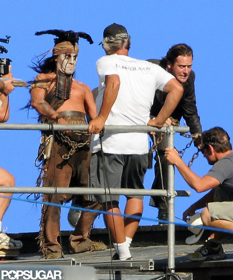 Armie Hammer filmed Lone Ranger with Johnny Depp.